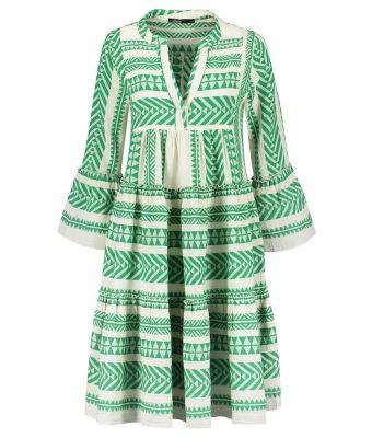 Devotion Short midi dress embroidery (strandjurk) Groen