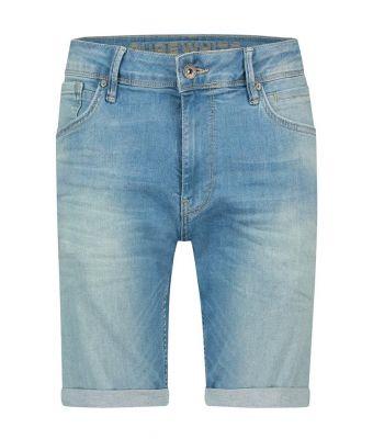Pure White Short jeans stretch Blauw licht