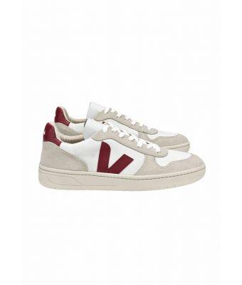 Veja Sneaker V-10 B-Mesh white Marsala Wit