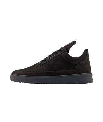Filling Pieces Sneaker Low top plain lane nubuck all black Zwart